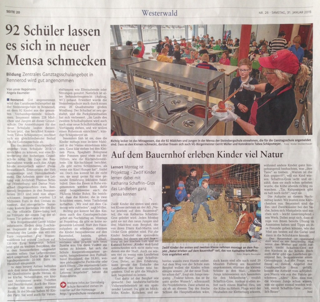 Bericht Westerwälder Zeitung 31.1.2015